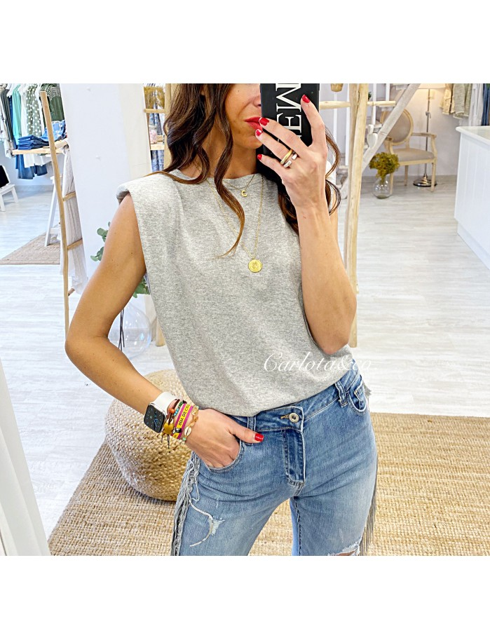 Camiseta trendy gris