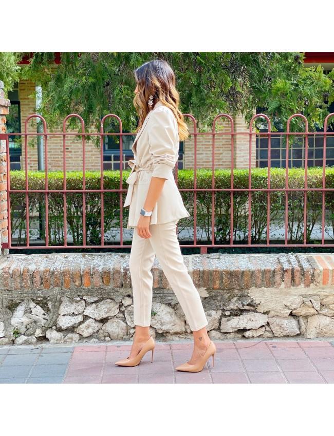 Pantalon diamante beige