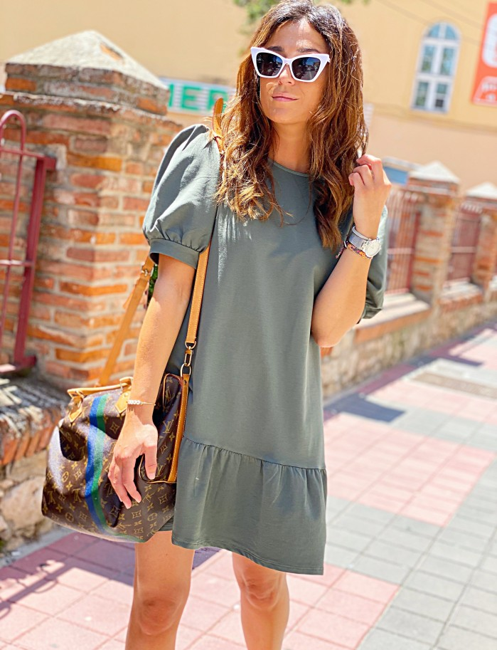 Vestido altea verde kaki