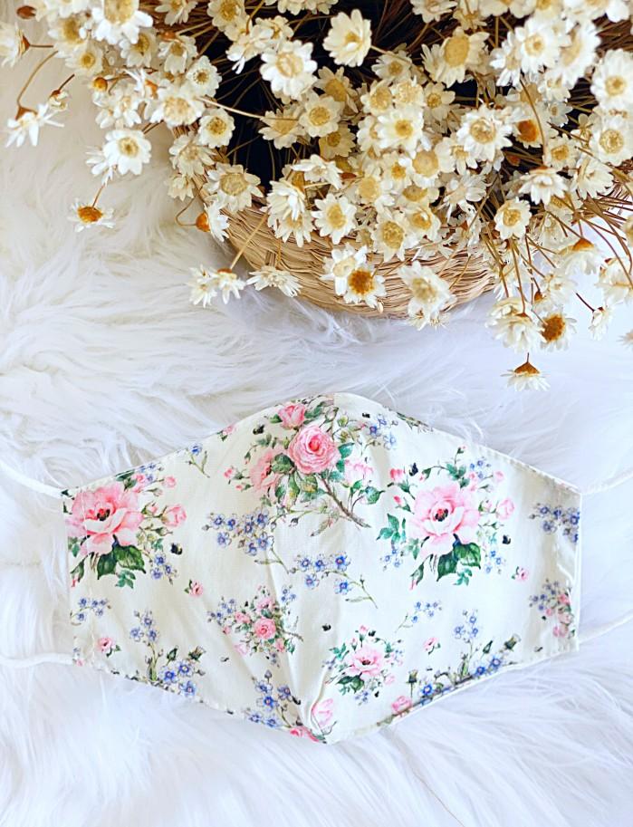 Mascarilla rosas