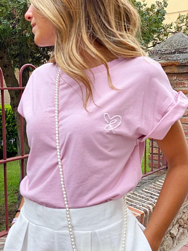Camiseta C&C rosa