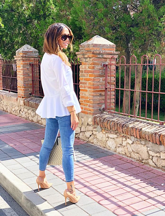 Camisa blanca peplum