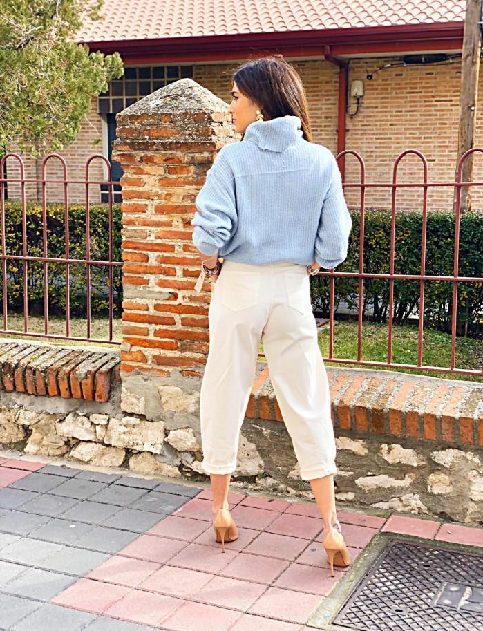 Pantalón slouchy crudo